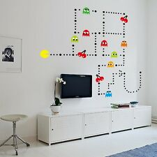 Pacman Classic Pac-Man Game Vinyl Wall Decal Art Nursery Stickers Baby Decor DIY