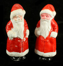 Antique Japanese Porcelain Santa Figural Christmas Figurines Pair Japan 3""