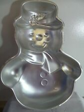 z- HOUSEWARE WILTON SNOWMAN CAKE PAN GREAT CONDITION HAVE FUN 1989  14 INCH