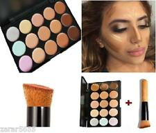 15 colors Concealer and contour palette with brush face makeup contour cream #1