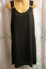NWT Portocruz 1X Women's Black Beach Swimsuit Coverup Sleeveless Sun Dress