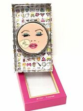 Betsey Johnson Silver Tone Multi Color Wink Compact Mirror-New In Box!