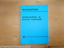 Boughton winch W27M on Trackmarshall 70 tractor.Instruction and parts manual.