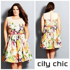 CITY CHIC * GARDEN PARTY  * CHIC FLORAL DRESS  Sz M  18W  NWT  NORDSTROM   $ 140