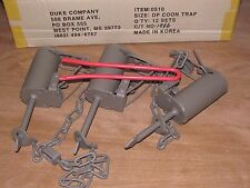 3 Powder Coated Duke DP Dog Proof Coon Traps & DP setterTrapping Raccoon