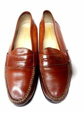 HUSH PUPPIES SOFT CALF LEATHER LOAFERS 11 M MEDIUM MENS BROWN SLIP ON SHOES