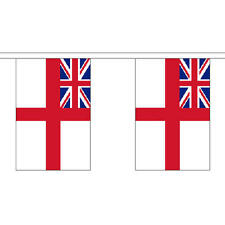 White Ensign Giant Bunting (30 Large Flags) 18.25M Royal Navy Naval 60Ft