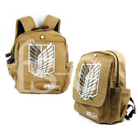 Attack on Titan School Canvas Bag Cosplay Backpack Shingeki No Kyojin Rucksack