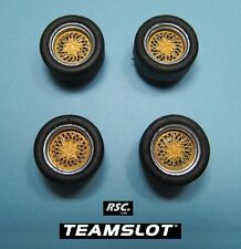 TEAM SLOT 1:32 BBS E49 - 4 WHEELS + 4 TIRES 18X10 MM FELGEN - LLANTAS - INSERTS