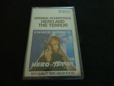 CHUCK NORRIS HERO AND THE TERROR ULTRA RARE SEALED SOUNDTRACK CASSETTE TAPE!