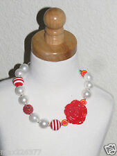 New Acrylic Chunky Beads Bubblegum Gumball Jewlery Necklace Christmas girl