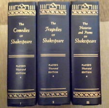 Comedies, Tragedies, Histories of Shakespeare. 3 Volume Player's Edition