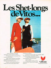 PUBLICITE ADVERTISING 014   1970   VITOS  tricots shet-longs