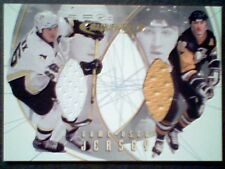 MARIO LEMIEUX   AUTHENTIC DUAL MEMORABILIA PIECES OF GAME-USED JERSEYS /40  SP