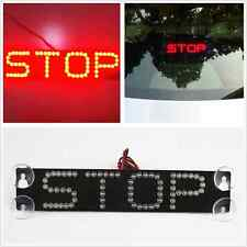 Red STOP LED Rear Windshield Sucker Warning Signal Brake Light For Car Truck SUV