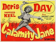 """Calamity Jane 1953 16"""" x 12"""" Reproduction Movie Poster Photograph"""