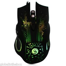 Gaming Mouse Mice 6 Buttons DPI Adjustable Computer Optical USB Wired 7 colors