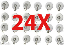 24 x Transparent Suction Cup Sucker For Window Wall Hook Hanger Kitchen Bathroom