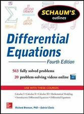 Schaum's Outline of Differential Equations, 4th Edition (Schaum's Outline Series