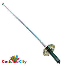 Prop Zorro espada esgrima bandido Mosquetero estoque Fancy Dress Costume Accesorio