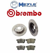 Acura TSX Honda Accord Set of 2 Rear Brake Rotors + Rear Disc Brake Pad