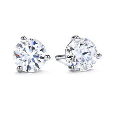 1.00CT ROUND BRILLIANT CUT SOLITAIRE STUD EARRING 14K WHITE GOLD DIAMOND STUDS