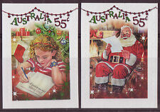 """Australia 2010 Navidad """"Brillante bits"""" Self Adhesive Set De 2. Menta desmontado, Mnh"""