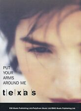 Put Your Arms Around Me - Texas - 1996 Sheet Music