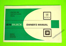 1974 Buick Century 350 Luxus Regal Owners Manual Owner's Guide Book