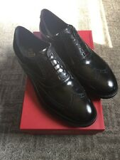 Salvatore Ferragamo Men's Dress Shoes Black WingTip Size 12EE New With Box