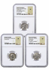 Random Ruler Roman Silver Denarius - 3 Different Coins NGC VF SKU41933
