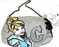 Disney Cinderella Purse Handbag Princess P Charm Zipper Pull Theme Parks New