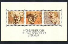 Germany 1978 Writers/Books/Nobel Prize/Literature 3v m/s (n32788)
