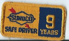 Sunoco oil company 9 years safe driver truck driver patch 1-1/2 X 2-3/4 in