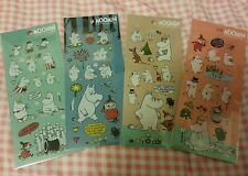 Moomin Valley Characters Moomintroll & Little My Stickers 4 Pces