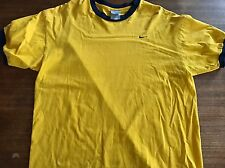 Nike T-shirt Ringer Yellow Made In USA XL