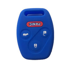 Blue Silicone Keyless Entry Remote Key Fob Case Skin Cover for Honda 3+1 Buttons