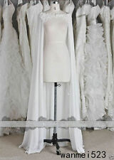 Chiffon Wraps Wedding Jacket Bridal Cloak Lace Fall Winter Bridal Dress's Capes