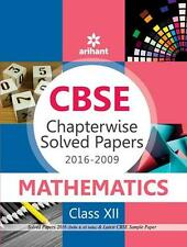 ARIHANT cbse Chapterwise Solved Papers mathematics - class 12th 2009-2016
