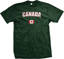 Canada Country Flag Pride Red Maple Leaf Hockey Sports Mens T-shirt