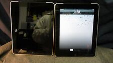 Apple iPad 1st Gen 64GB, Wi-Fi/3G (AT&T, GSM) - MC497LL/A - Black (LOT OF 2)
