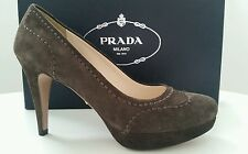 HIGH-HEELS DAMENSCHUHE LADIES SHOES PRADA! Gr.35 WILDLEDER NEU NEW ITALY!