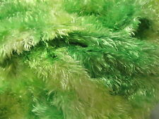 Soft Green Chenille Faux Fur Plush Pile Fabric Long Sew Craft Costume 1 3/8 yd