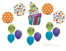FUNKY CAKE HAPPY BIRTHDAY PARTY BALLOONS Decorations Supplies 16TH Hippy 13th