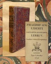 1750 Fabeln Aesops Phaedrus. Fabularum Aesopicarum libri V