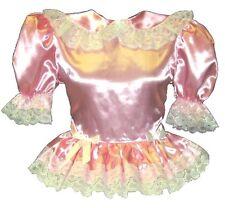 """Myrtle""  Custom Fit PINK SATIN BABYDOLL Adult LG Baby Sissy Dress LEANNE"
