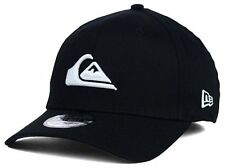 Quiksilver New Era 39Thirty Mountain & Wave Black Cap Hat Stretch Fit $30 M/L