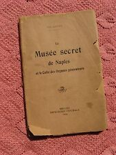 "102 Year old Antique French Booklet ""Le Musee de Naples"" 1914~Erotic~Risque Art~"