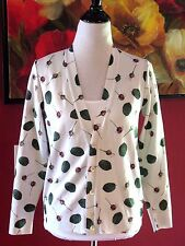 NWT Under Cover Undercoverism Sz S M (See Meas) Cardigan White Green Red Sweater