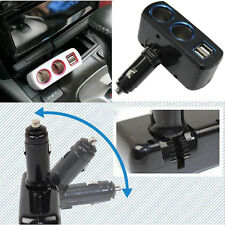 Dual Ports Usb Car Charger Cigarette Lighter Adaptor Double Socket Splitter